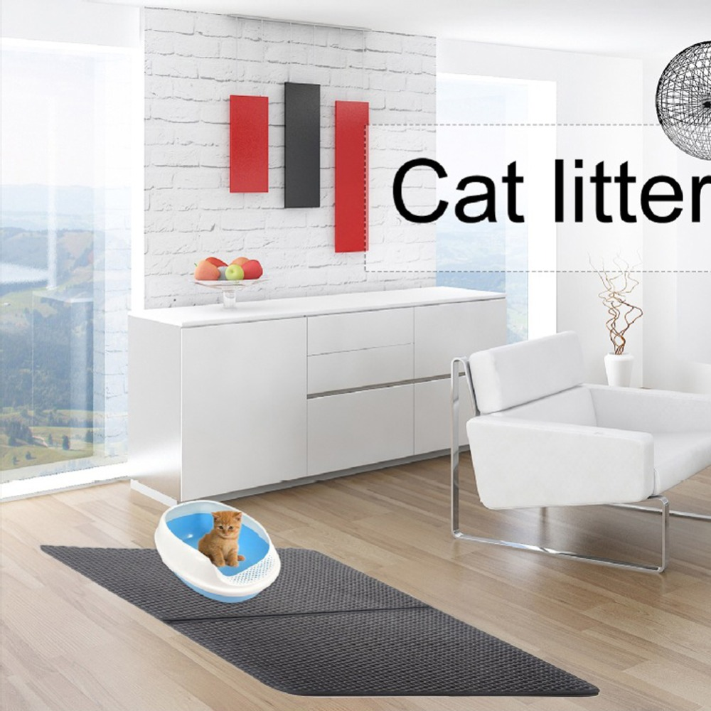 Waterproof Pet Cat Litter Mat Eva Double Layer Cat Litter Trapping Pet Litter Cat Mat Clean Pet Products For Cats Accessories (5)