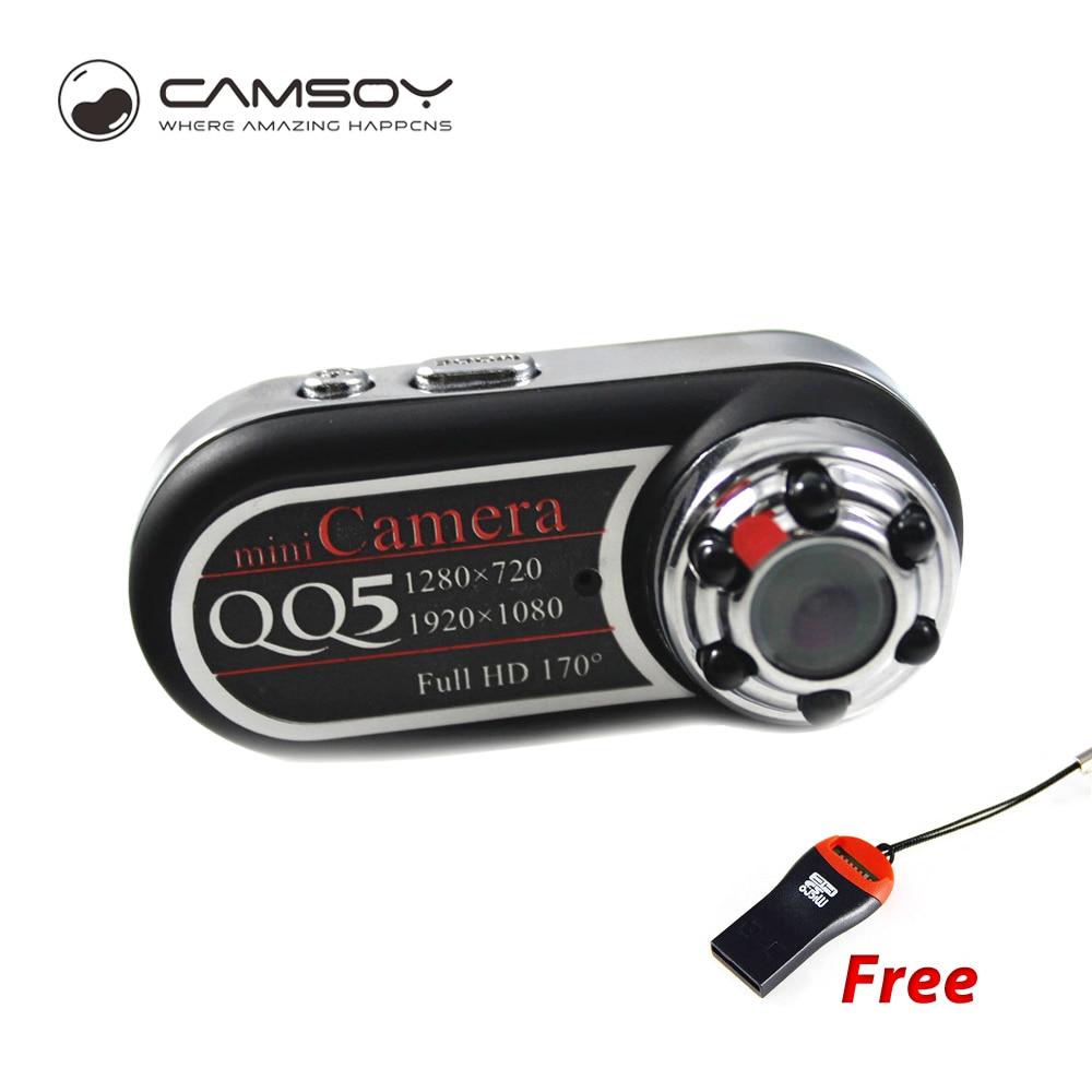 QQ5 Mini Camera Micro Portable 1080P HD Camera Body Camera With Wide Angle Motion Detector Infrared Mini DV Camera