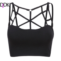 Fashion Women 2015 Summer Female Sexy Clothes Brand Casual Sheer Black Multiple Strap European Style Crop