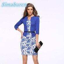 S-3XL Women Office Pencil Dress Fake two-piece Suit Bodycon Package Hip Dresses Vestidos Elegant Summer Spring Workwear Ladies