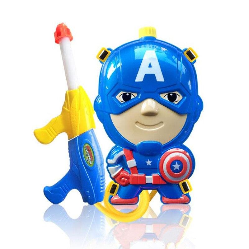 Детский летний пляж игровой водяной пистолет детский открытый Super Soaker Blaster пожарный рюкзак Давление навигация бассейн игрушка со дня рожден...