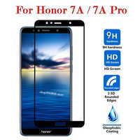 Vidrio Protector en Honor 7A Pro vidrio templado para Huawei Honor7A A7 7 A Protector de pantalla Cristal HonorA7 2.5D completo cubierta