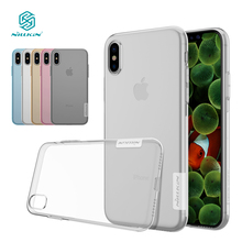 Nillkin Nature Transparent Clear Soft silicon TPU Protector cover for iphone X case cover 5.8'' for iphone x case for iphone x