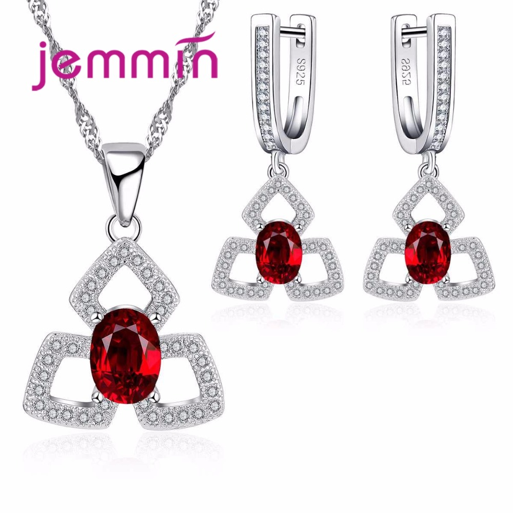 Jemmin High Quality Women Ruby Pendants Necklaces