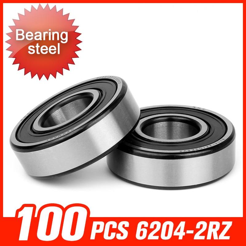 100pcs 6204-2RZ Bearing 47x20x14mm Bearings For Woodworking Machinery Machine Tool Spindle Hardware Tool Accessories washing machine parts bearing 6204