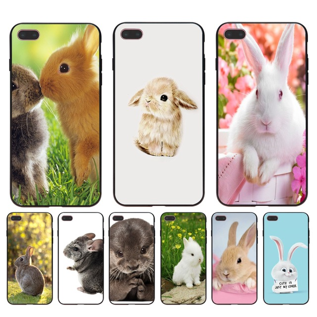quality design d887d f0e14 US $1.49 25% OFF|MaiYaCa Cute white Bunny Rabbit Pink Diy Luxury High end  Protector phone Case for Apple iPhone 8 7 6 6S Plus X 5 5S SE 5C case-in ...