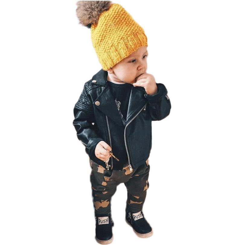 5230c5624f7c Free shipping baby girl and boys Pu leather jackets children s brand ...