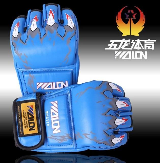 1 Pair MMA Boxing Muay Thai Sandbag Fight Combat Training Practice Fist Gloves