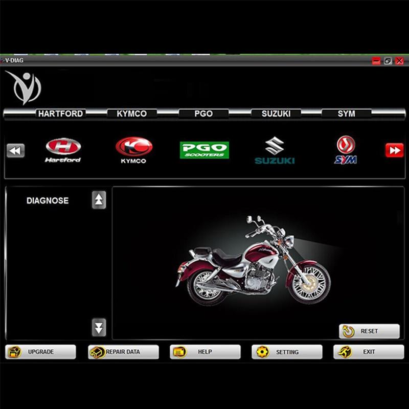 Классический 7 в 1 Многофункциональный брендовые мотоциклетные сканер мотоцикл ремонт инструмент диагностики RMT 7 в 1