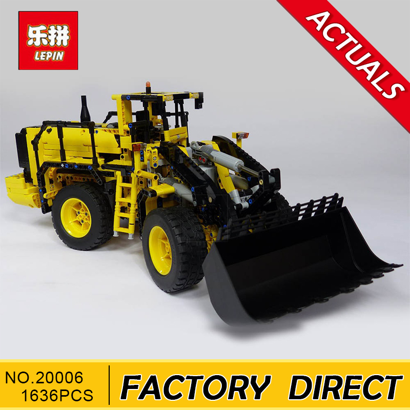 Lepin 20006 technic series The L350F wheel loader Model Building Kit Blocks Bricks Educational Kids Toys Compatible with 42030 недорого