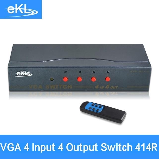 EKL 414R 4x Input 4x Output VGA Splitter Switch with IR control 4