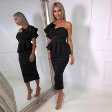 DressBird Women Summer Bodycon Party Dresses Vestidos Sexy Backless Red Black Dress Two-piece Suit for Girl