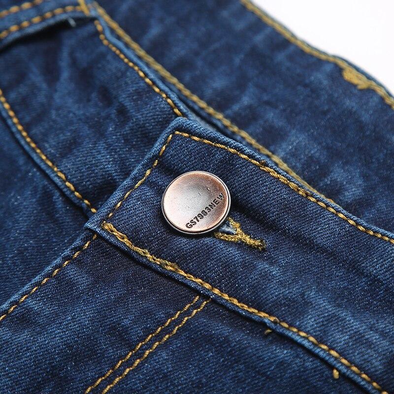2018 Classic Business Casual Mens jeans Elasticity Cotton Stretch Denim Pants Slim Regular Fit fashion Denim Trousers men jeans