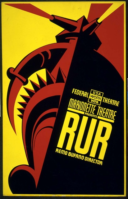 Sci fi Puppet Theater RUR Movie Film Vintage Retro Kraft Poster ...