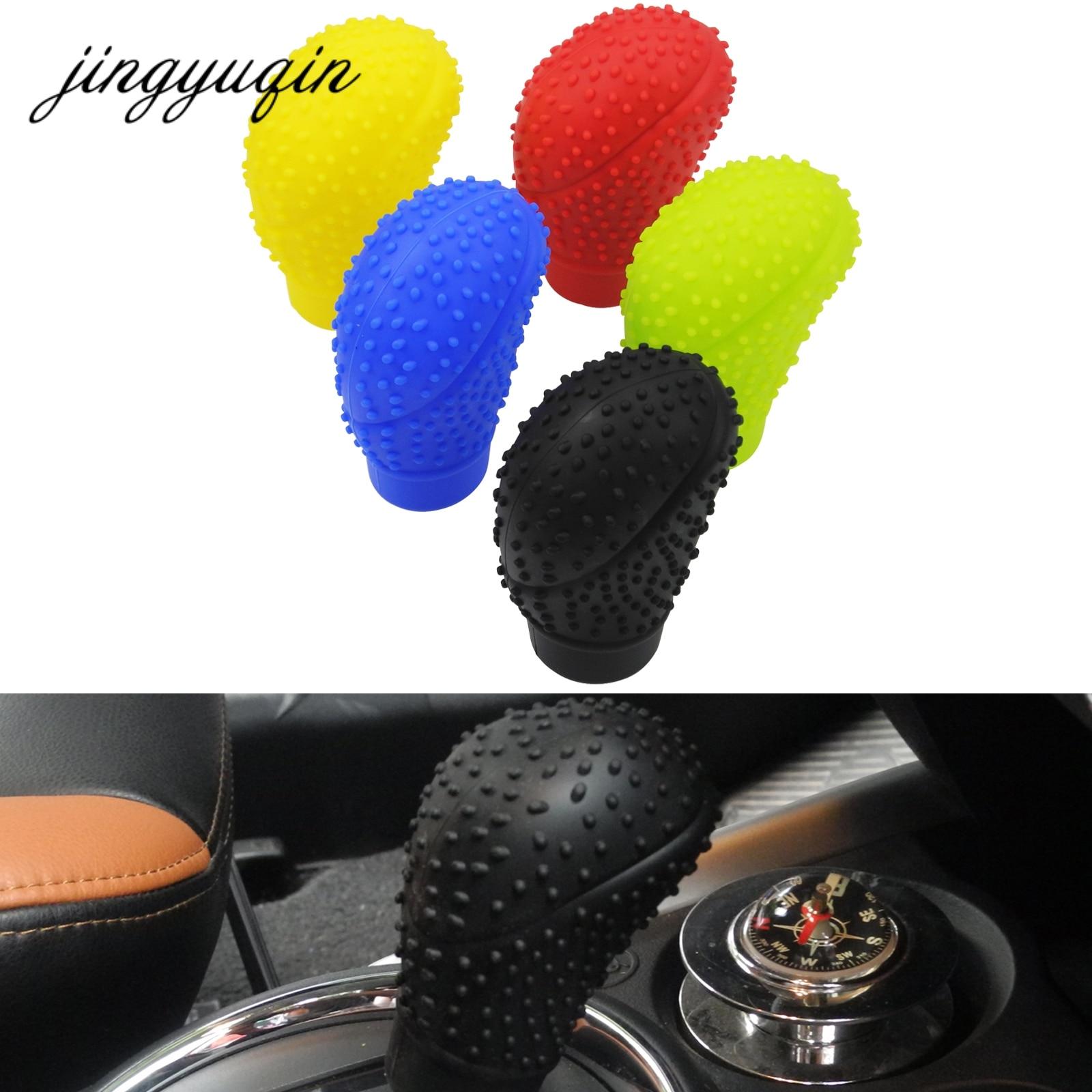 jingyuqin Universal Gear Shift Collars SD Antislip Soft Silicone Truck Car Gear Shifter Shift Lever Knob Cover|knob cover|gear shift collars|shift collars - title=