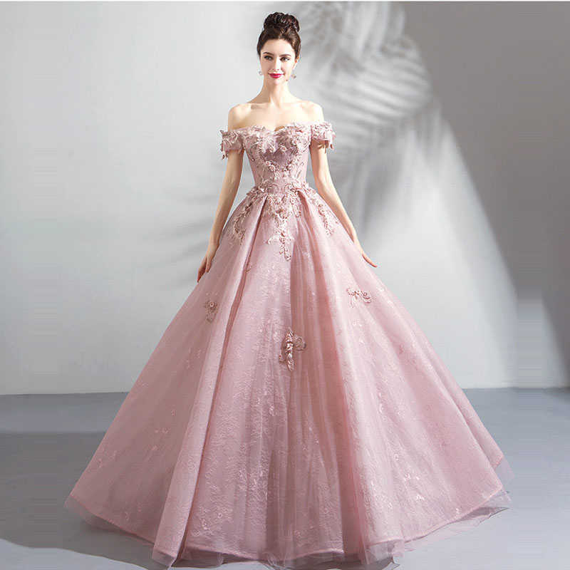 edc6e24f91 ... It s YiiYa Eveming Dress Soybean Color Boat Neck A-line Floor-length  Appliques Beading ...