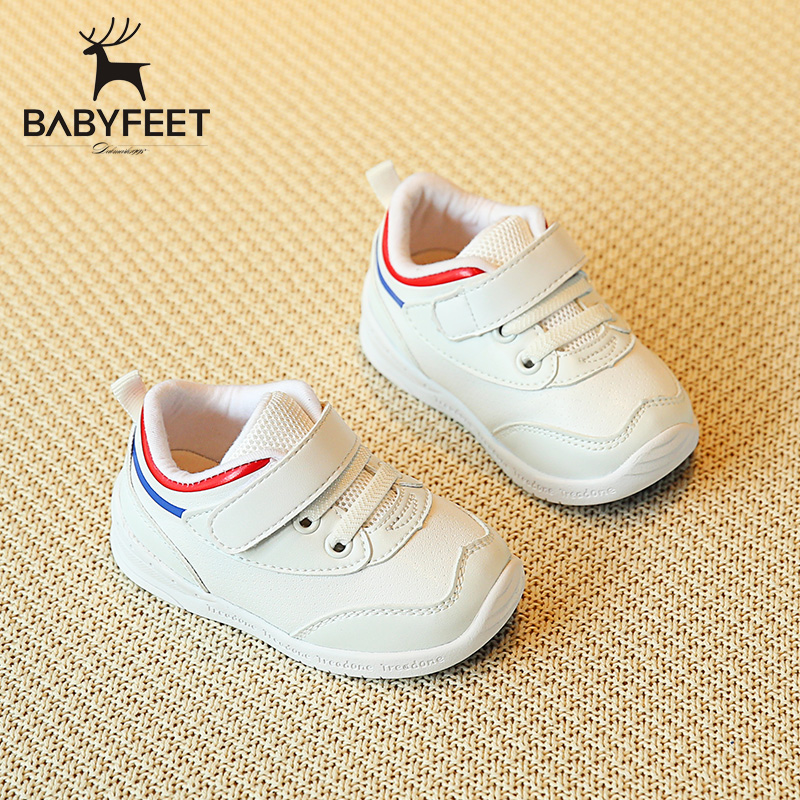 Babyfeet Fashion sneakers shoes for boys girls brand White shoes size 19-26 Waterproof PU Leather children sneakers port shoes babaya new children sport shoes casual pu leather white running shoes for 4 12 years old boys and girls kids sneakers size 26 37