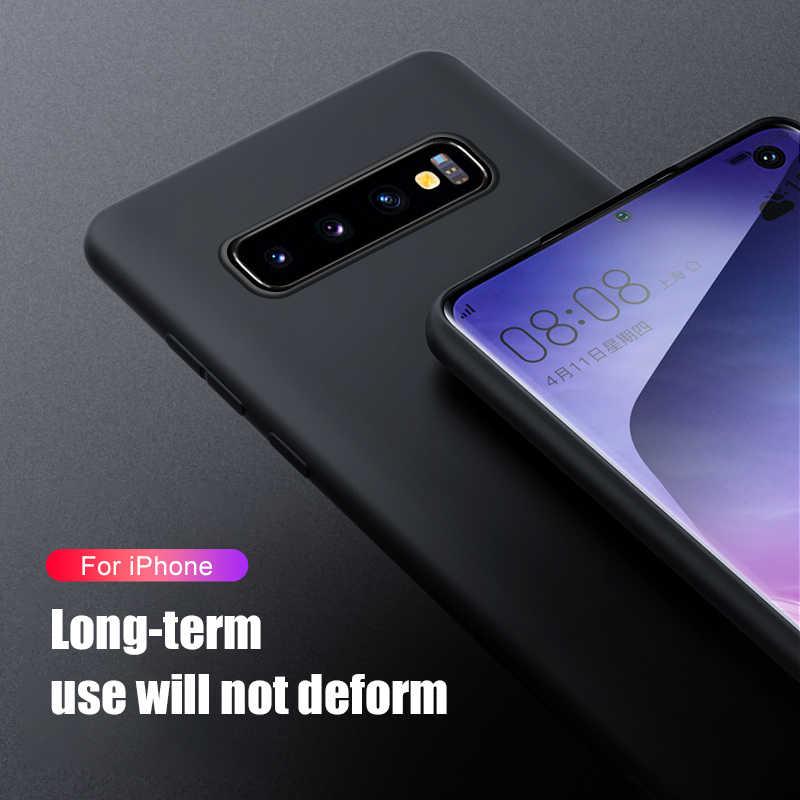 Liquid Silicone Case For samsung Galaxy s10 s8 s9 plus note 10 pro a50 2019 a10 a20 30 a40 a20e a70 m10 m20 m30 s 8 9 Soft cover