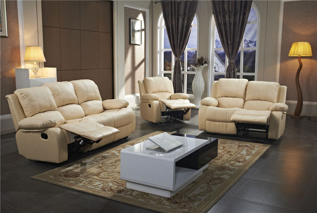 2015 salon moderne canapé inclinable canapé en cuir canapé avec ...