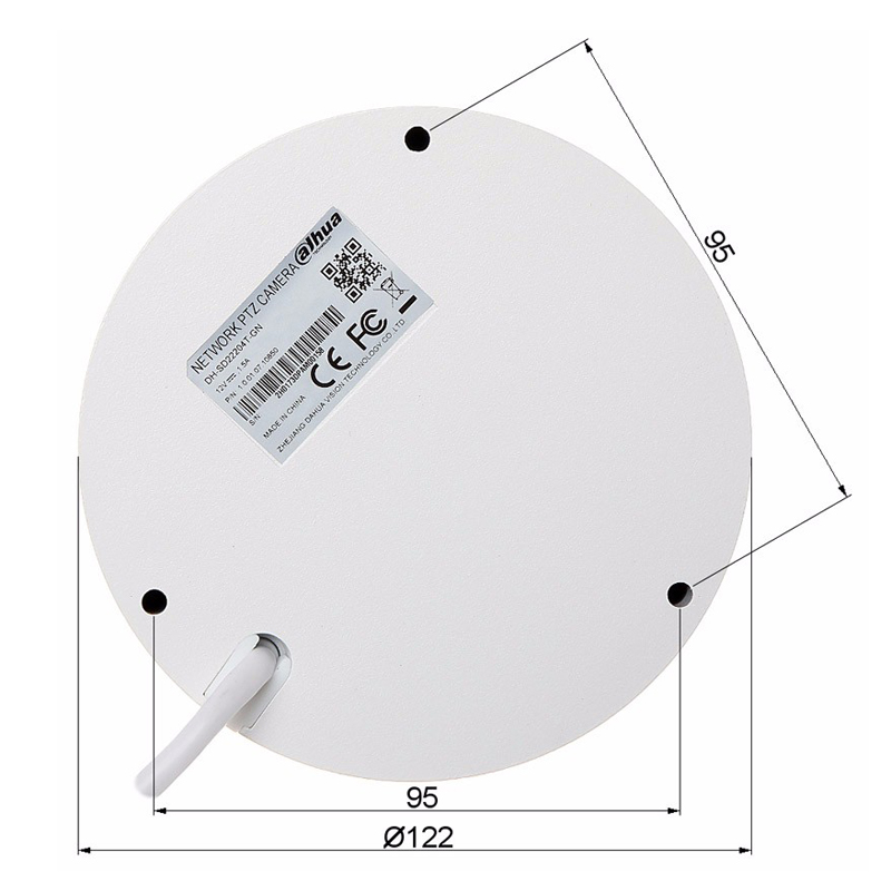 Image 4 - Original PTZ camera SD22204T GN 2MP Network Mini Speed Dome 4x optical zoom Auto focus Camera  English Firmware SD22404T GN logo-in Surveillance Cameras from Security & Protection