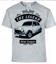 Camiseta, Mini Cooper alemán coche algodón hombres camisetas clásica 2019 ropa informal estilo Hip Hop camisas personalizadas