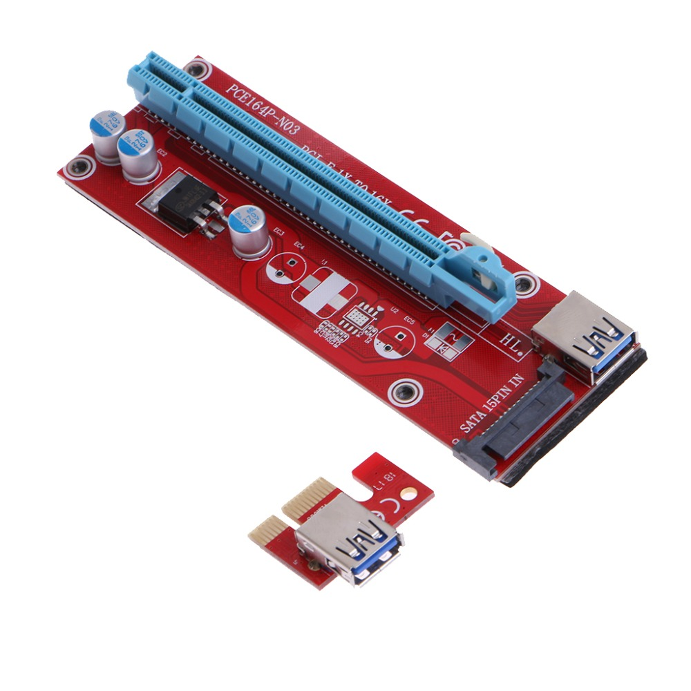 2017 New Version PCI-E PCI E Express 1X To 16X Riser Card Board Adapter USB 3.0 Extension Cable Set 60cm High Quality C26 high quality sbc 659 b1 1 pci interface half liong board 100