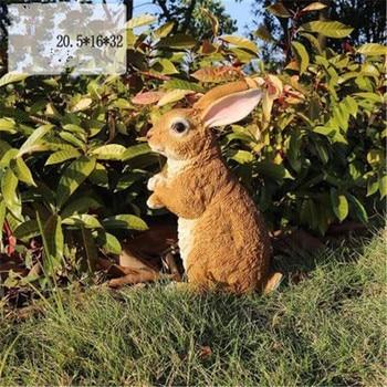 Rabbit Simulation Animal Model Colophony Crafts Sculpture Outdoor Garden Decoration G1071