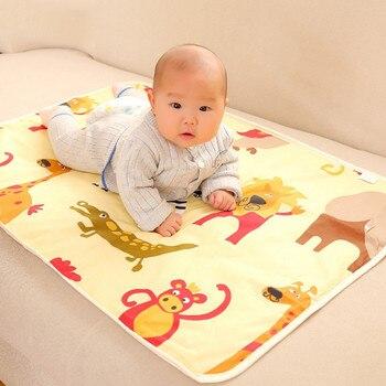 68be5337c 3 capas recién nacido cambiando Pad bebé cambiar las almohadillas para bebé  cama de niño impermeable estera cambiante para cuna