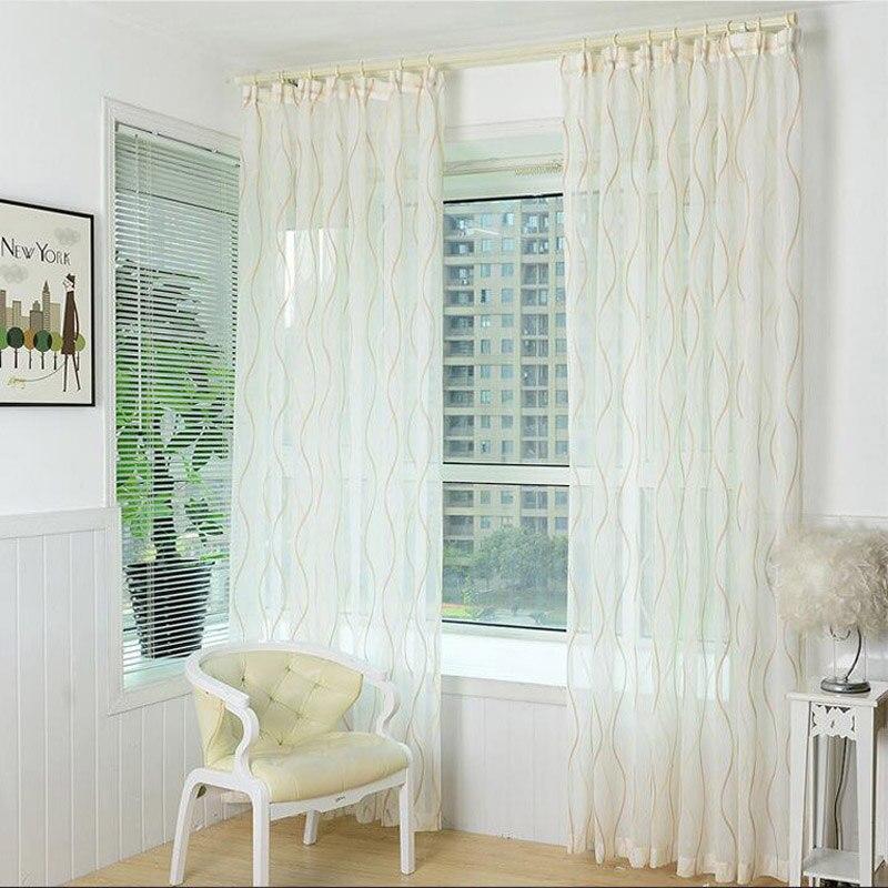 Rideaux Moderne Pour Salon Épaissir blanc rideau Écrans pour salon balcon rideaux moderne rayé