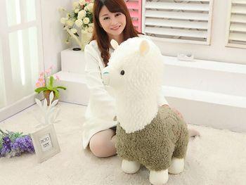 large 65cm green&white alpaca soft doll lovely cartoon alpaca plush toy throw pillow toy birthday gift w1811
