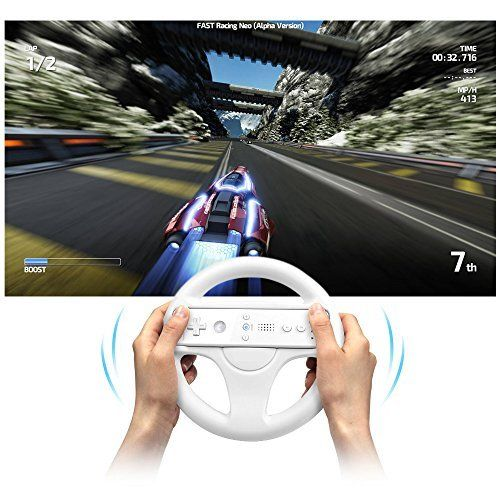 3 Color Plastic Steering Wheel For Nintendo Wii Mari o Kart Racing Games Remote Controller Console Innovative Ergonomlc Design ...