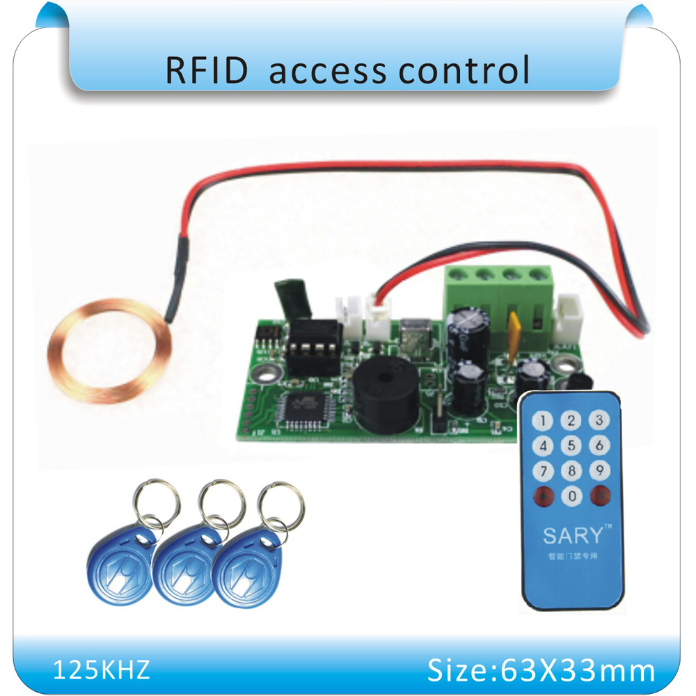 ФОТО Free shipping SY-1788 125KHZ RFID embedded entrance access control system main board /Building intercom  access board +10cards