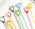 30PCS/lot Hello K-itty Kawaii Cartoon Animal Long Cable Winder Headphone Earphone Organizer Wire Holder