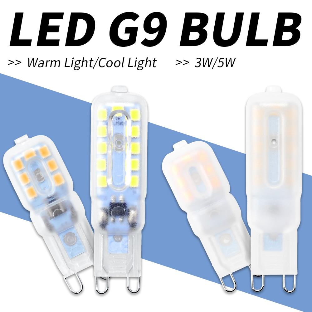 G9 3 w 5 w Mini Lâmpada LED CONDUZIU a Lâmpada 220 v Led G9 SMD2835 Holofotes Para Lustre de Luz Alta brilho de Iluminação Substituir Lâmpada Halógena