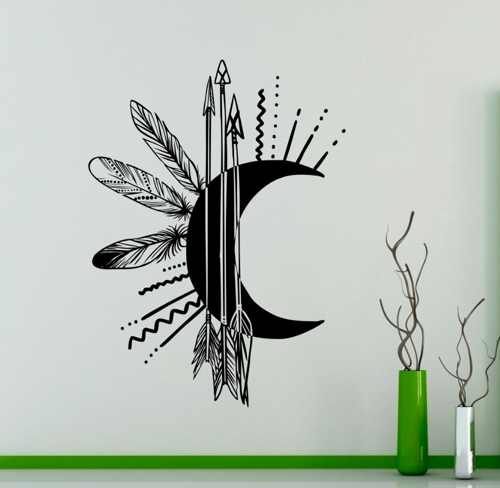 Arrows Moon Creative Wall Mural Art Design Special Wall Sticker