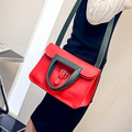 New Arrival Handbags Women Leather Messenger Bag Panelled Causal Tote Ladies Business Fold Over Purse