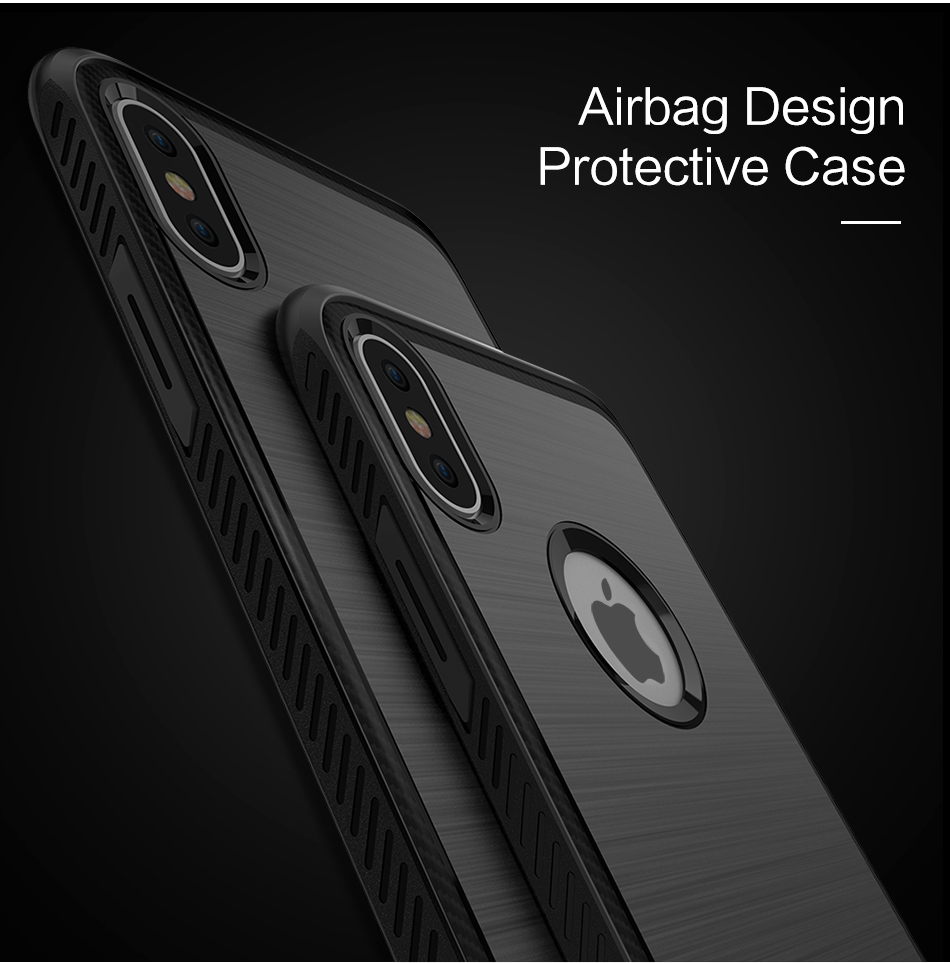 Luxury Shatterproof Cover For iPhone8 Phone Case Soft TPU Edge Hard PC i8 i 8 Case For Apple iPhone 8 Protective Accessories (6)
