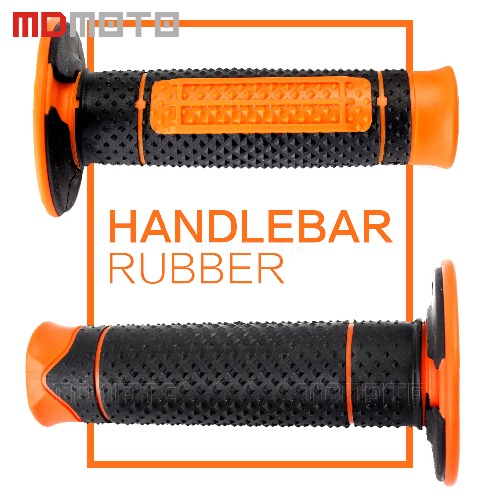 Orange KTM Handle Grip Motorcycle High Quality Dirt Pit Bike Motocross 7/8 Handlebar Rubber Gel PRO Hand Grips Brake Hands CRF
