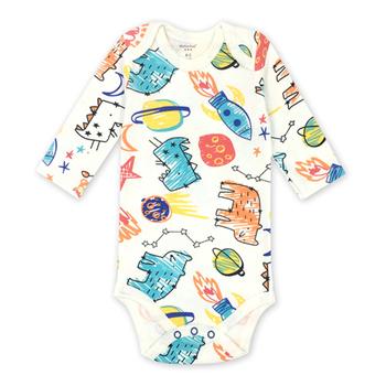 Noworodek body niemowlęce bebes ubrania z długim rękawem bawełna z nadrukiem odzież niemowlęca 1 szt 0-24 miesięcy tanie i dobre opinie AGLDI COTTON Moda Cartoon Dla dzieci O-neck Unisex Pełna Pasuje prawda na wymiar weź swój normalny rozmiar