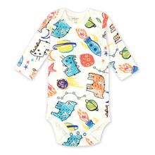 nowonarodzone ciała dzieci dziecko Bebes Odzież długi rękaw bawełna drukowanie niemowląt 1 sztuk 0-24 miesięcy tanie tanio Bodysuits Pełne Drukowania Unisex Pasuje do rozmiaru Weź swój normalny rozmiar Moda O-Neck AGLDI