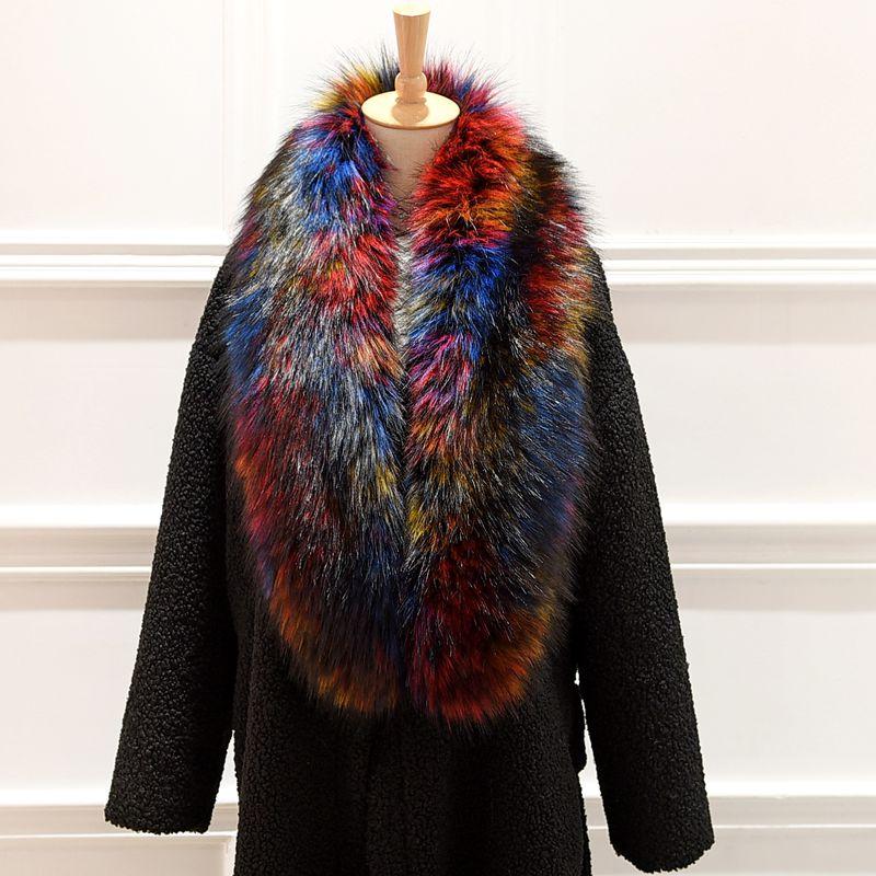 Brieuces women scarf Sub fur collar fox fur collar raccoon fur collar false muffler scarf cap scarf cape down fur collar in Women 39 s Scarves from Apparel Accessories