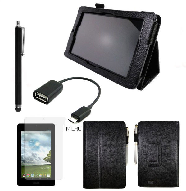 4in1 Kit For ASUS MeMO Pad ME172V Magnetic Cover Stand PU Leather Case 8 colors + Screen Protector + OTG Cable + Pen