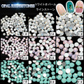 75 unids/lote flatback rosa blanco verde opal piedras del arte del clavo