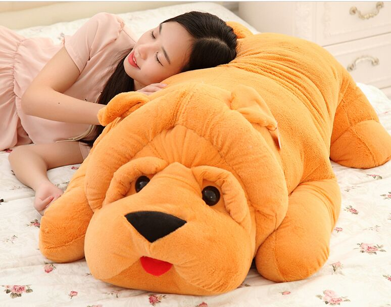 huge 120cm prone shar pei dog plush toy,soft pillow toy birthday gift Christmas gift h2928 stripes sweater design prone husky largest 165cm gray husky dog plush toy sleeping pillow surprised christmas gift h907