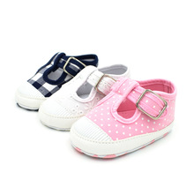 цены Spring and Autumn New Boys and Girls 3 color T-shaped Canvas Breathable soft Bottom Baby Shoes Baby Toddler Shoes 0-1 Years old
