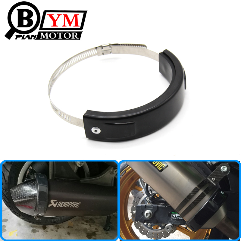 Motorcycle Accessories Universal Fit 100MM-140MM Oval / akrapovic Exhaust Protector Can Cover For Honda Yamaha Suzuki Kawasaki