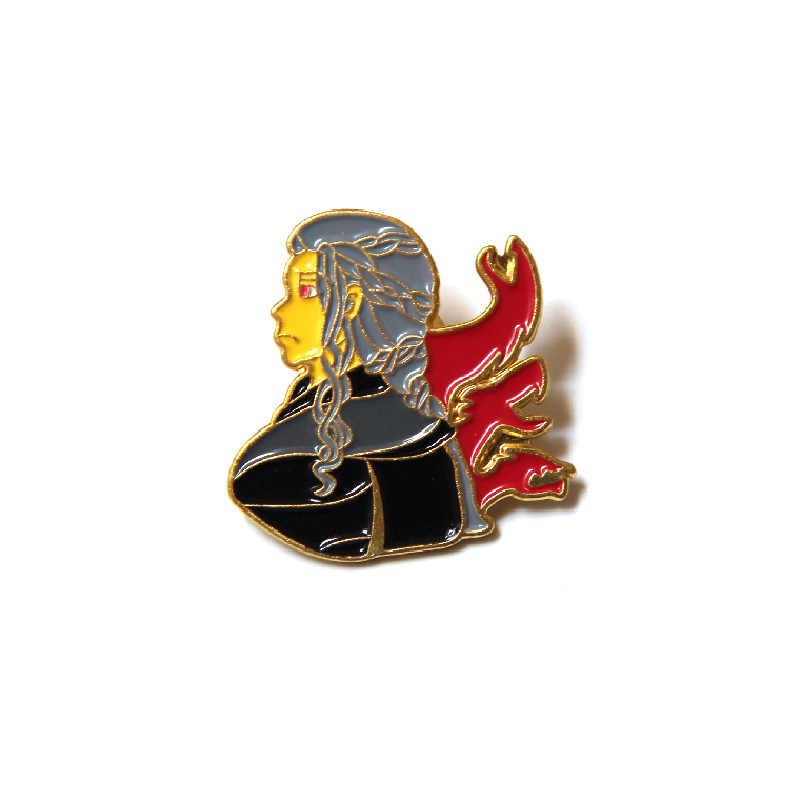 Игра престолов Nighr King брошь металлическая Глянцевая булавки и броши для женщин и мужчин нагрудные значки на рюкзак сумки шляпа значок Мстители 3