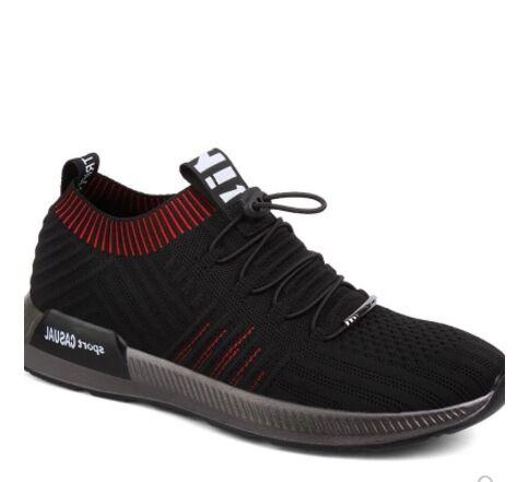 Casual Niños Calcetín Lace Super Mocasines Verano Marca Negro Malla Transpirable Luz Up Zapatos Zapatillas Hombres g0PqwYH