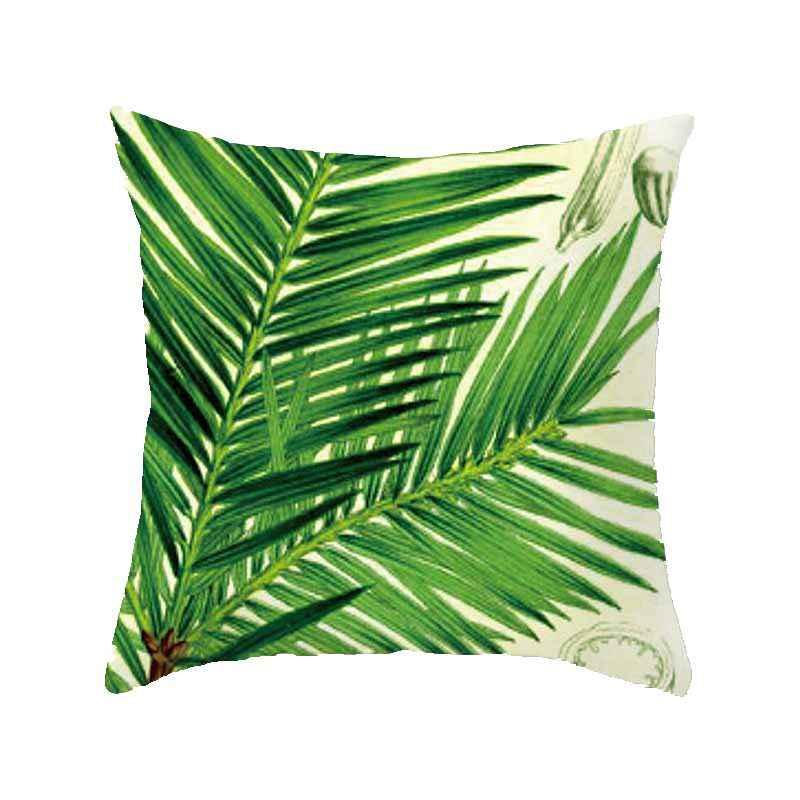 Tropic Treeสีเขียวเบาะรองนั่งผ้าฝ้ายโพลีเอสเตอร์โยนหมอนตกแต่งหมอนเบาะรองนั่งสำหรับโซฟารถ