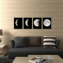 wall art for office space. abstract space black u0026 white moon picture painting on canvas wall art for home office decor modern giclee prints artwork